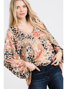 Jolie Leopard Top