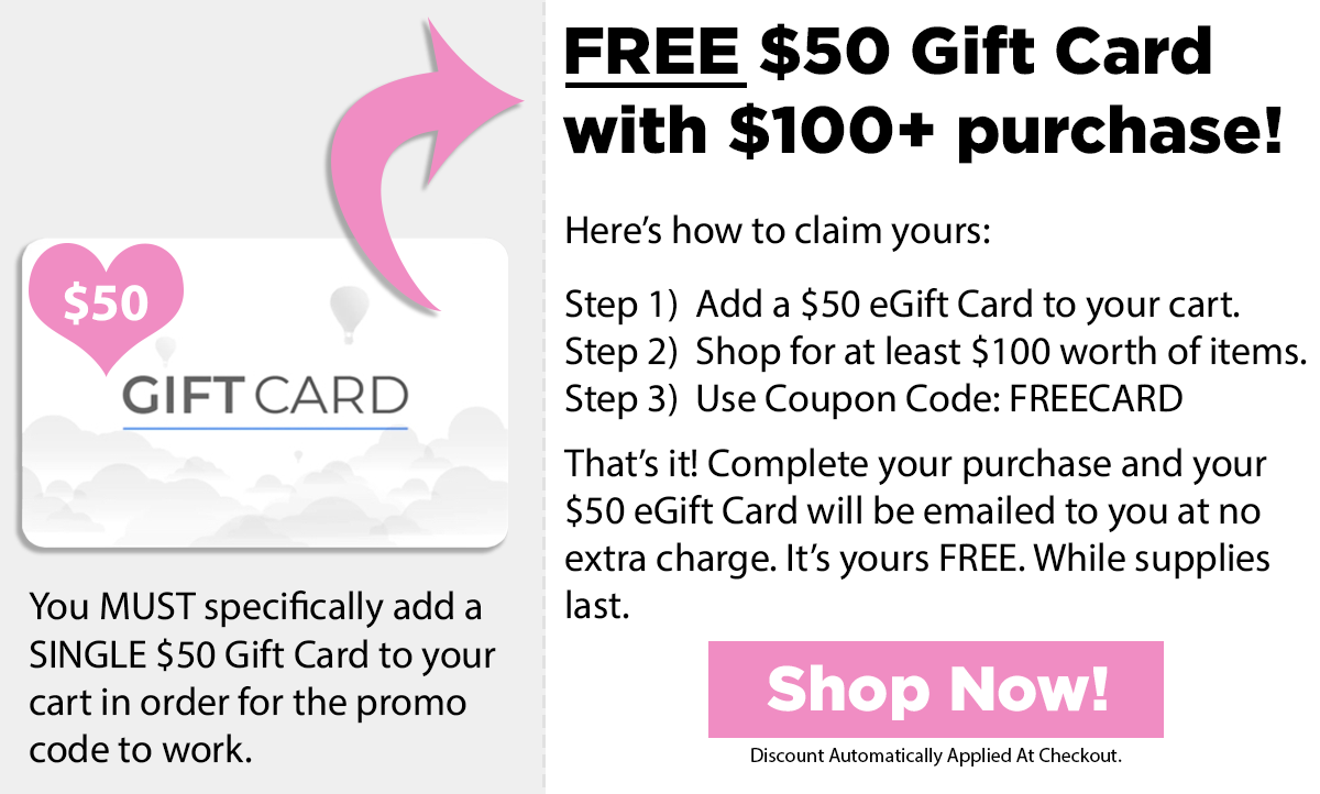 Free $50 Gift Card With $100 Purchase