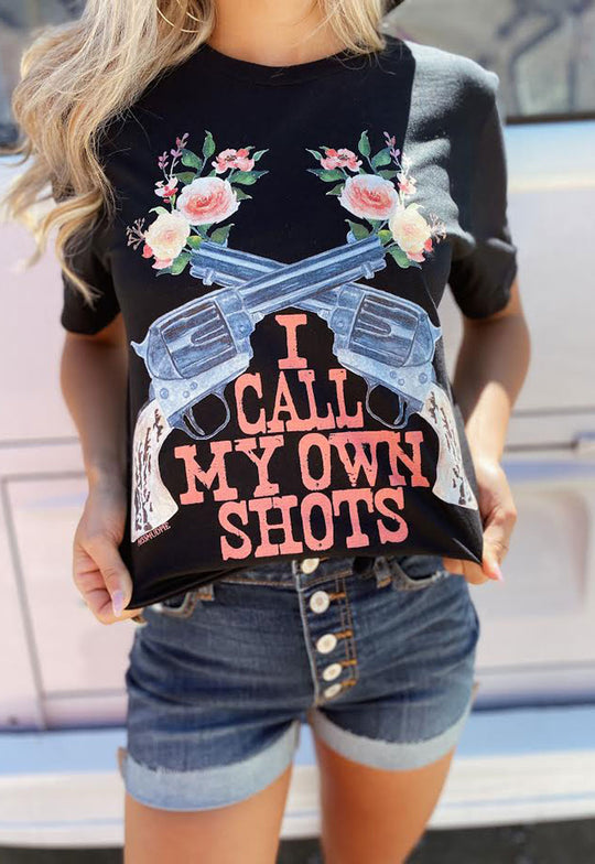 I CALL MY OWN SHOTS TEE - BLACK