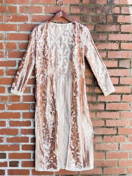 The Royal Sequin Duster - Rose Gold (PRE-ORDER)