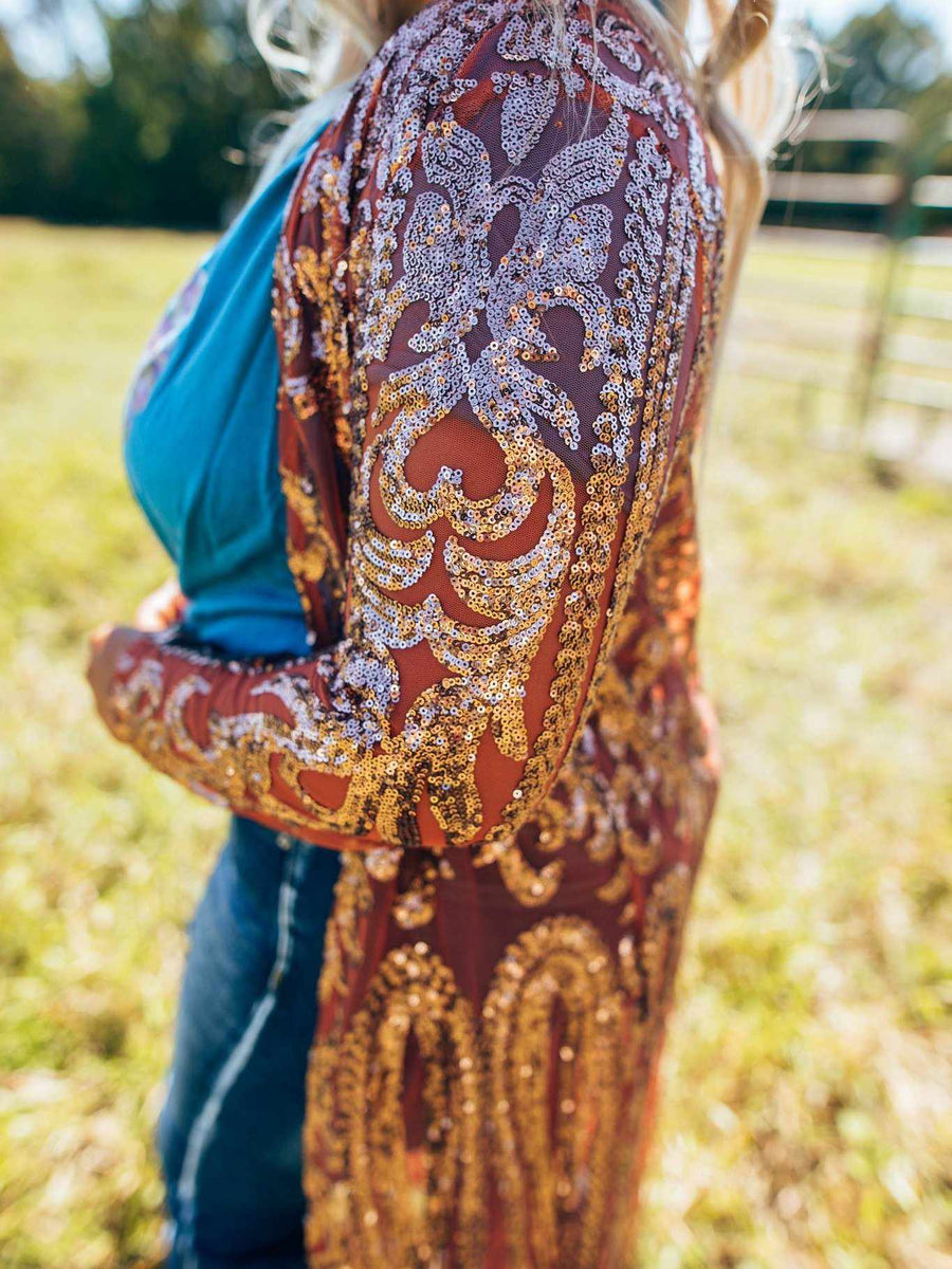 The Royal Sequin Duster - COPPER