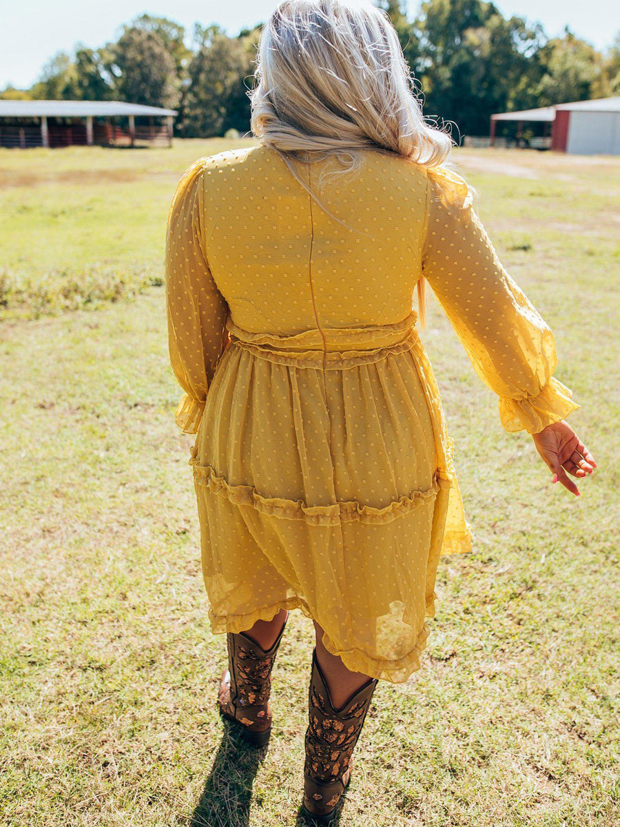 Sunday Best Dress - Mustard