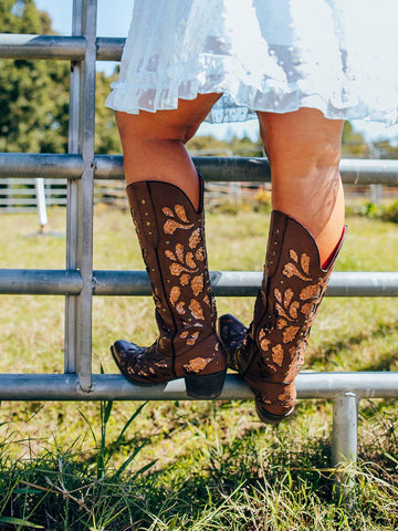 Gone Country Glitter Boots - Tan