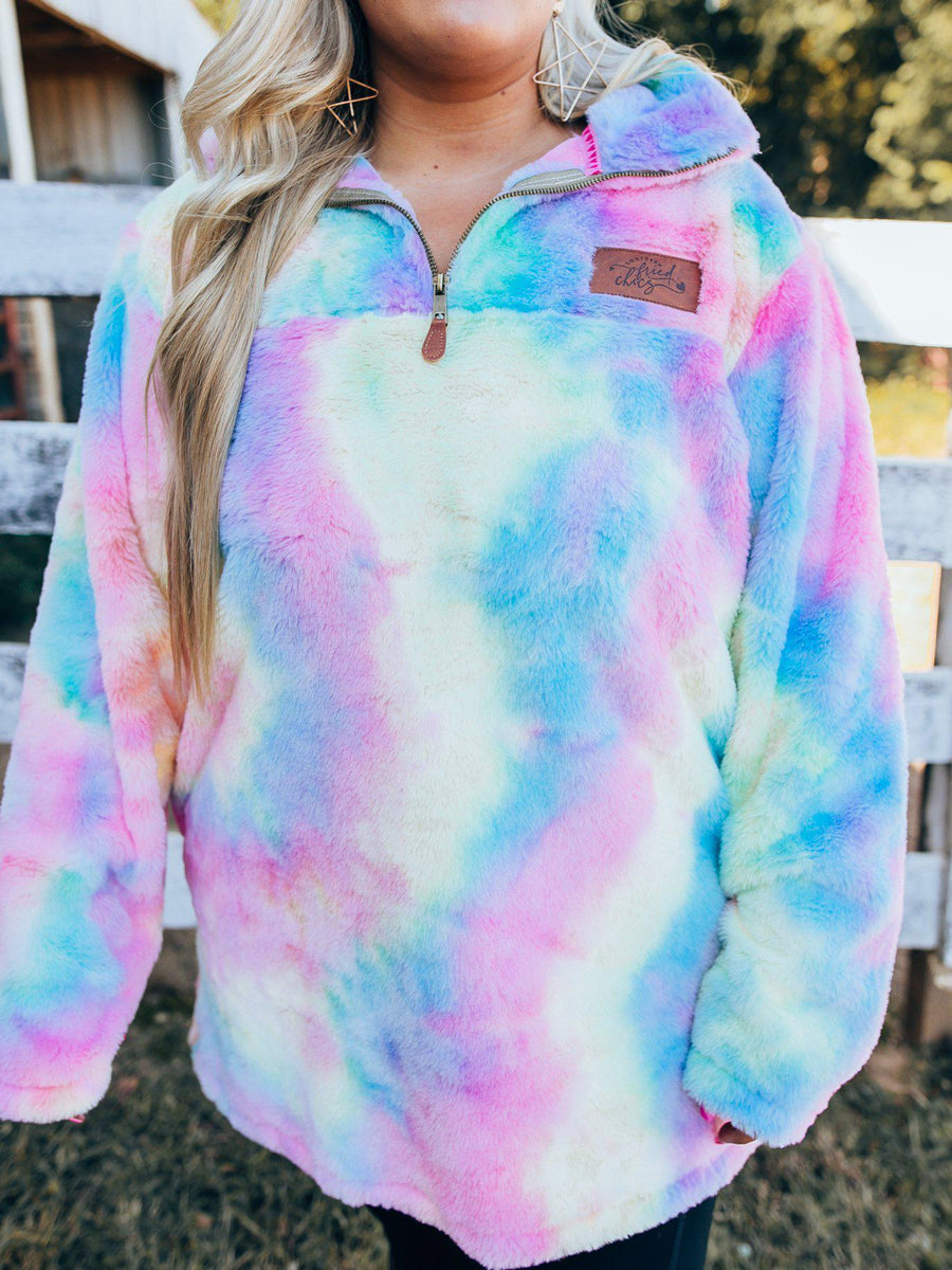 Magical Unicorn Tie Dye Sherpa