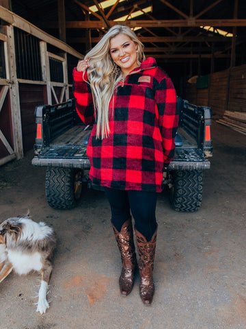 Roamin Buffalo Plaid Sherpa