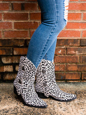 True West Boot - Snow Leopard