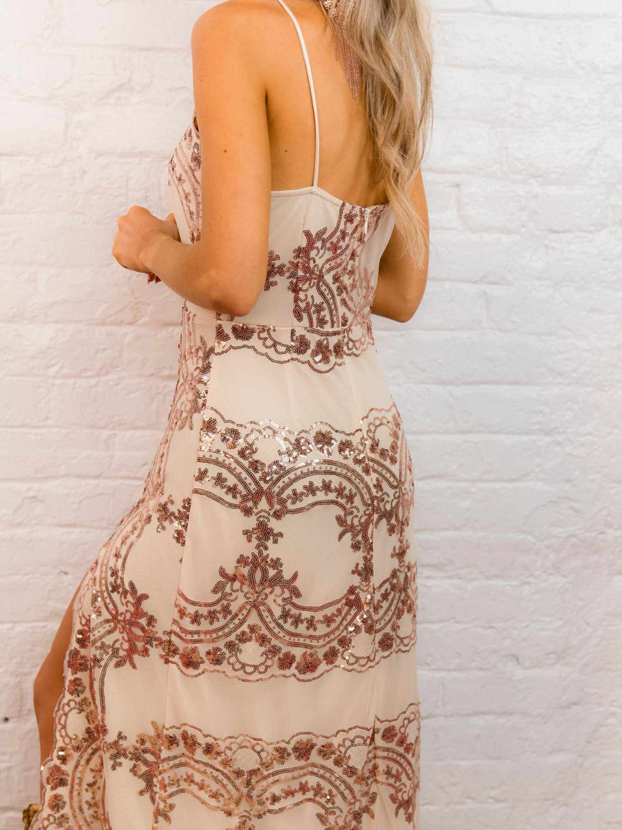 The Rovena Dress - Rose Gold-Dresses-Southern Fried Chics