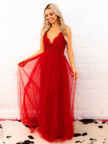 The Vallie Dress - Red