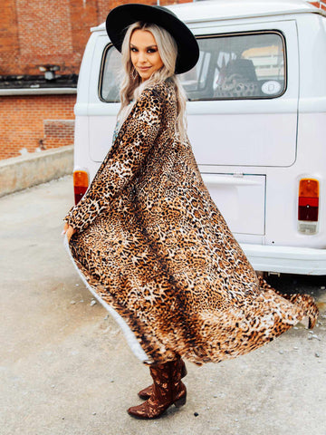 The Marsella Leopard Print Duster-Dresses-Southern Fried Chics