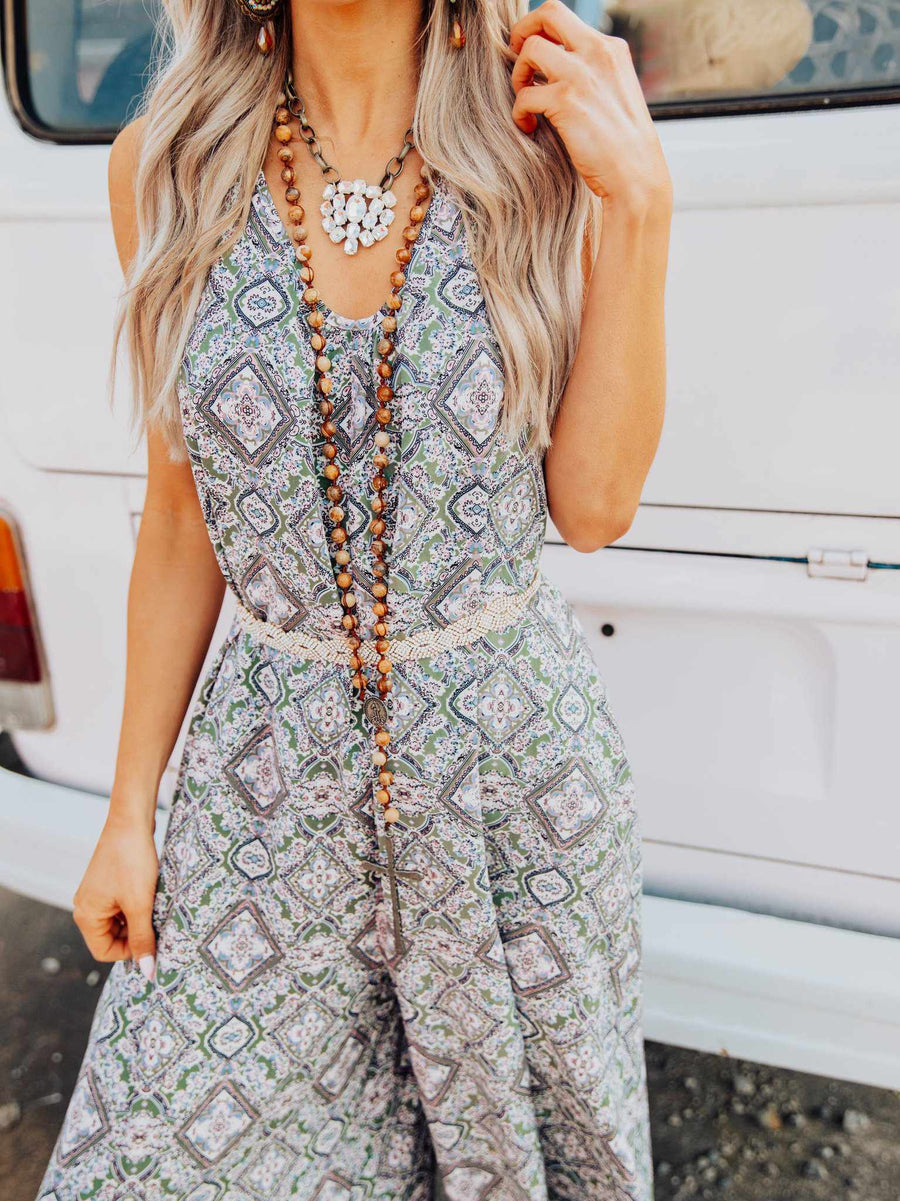 This Is Paradise Jumpsuit - Olive-Jumpsuites and Rompers-Southern Fried Chics