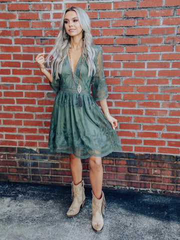 The Lettie Dress - Olive