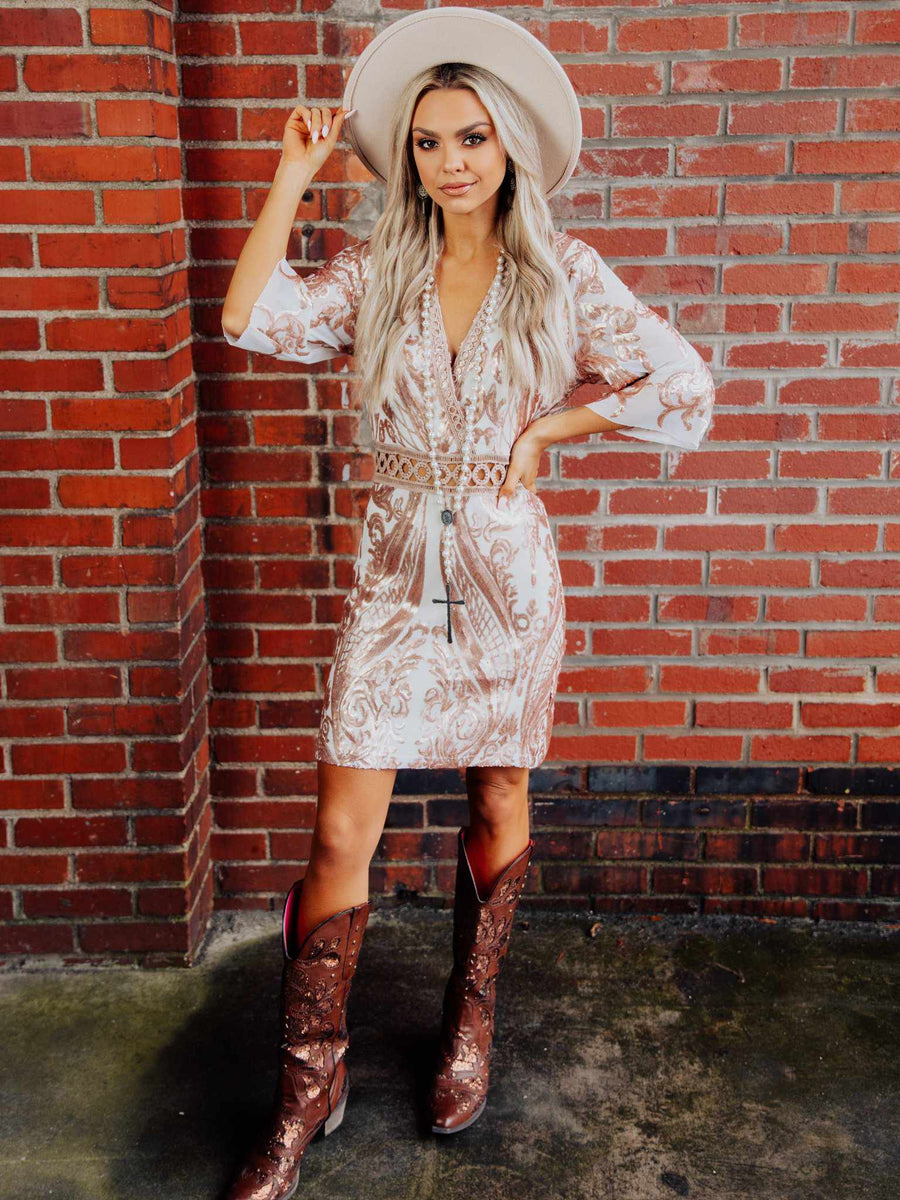 Dance With You Dress - Blush-Dresses-Southern Fried Chics