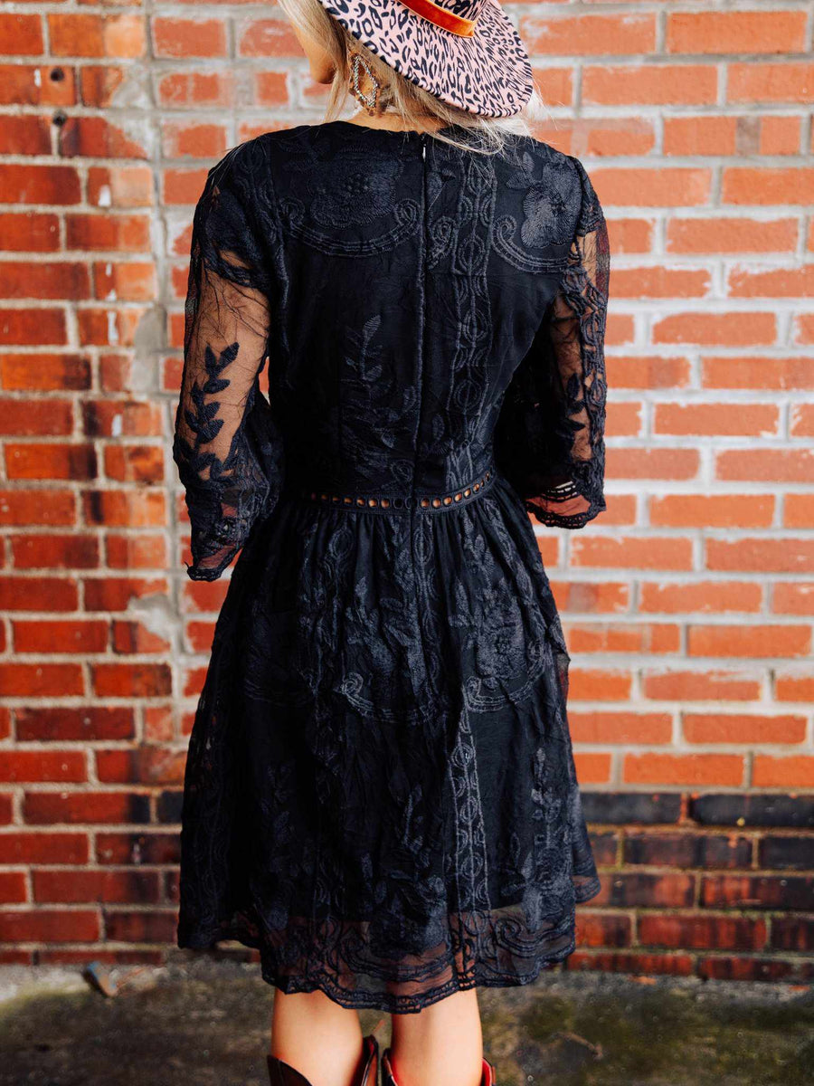 The Lettie Dress - Black-Dresses-Southern Fried Chics