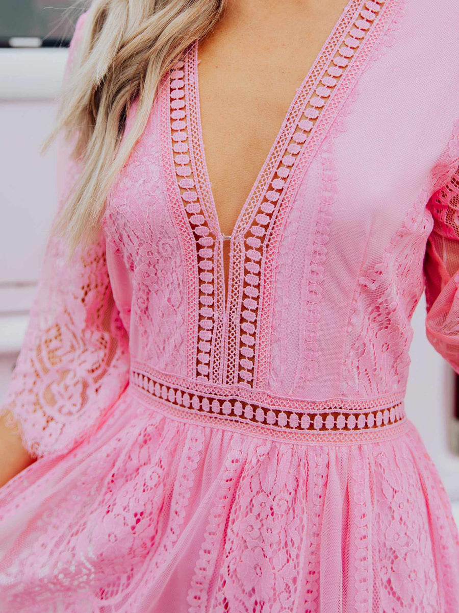 Anywhere With You Dress - Pink-Dresses-Southern Fried Chics