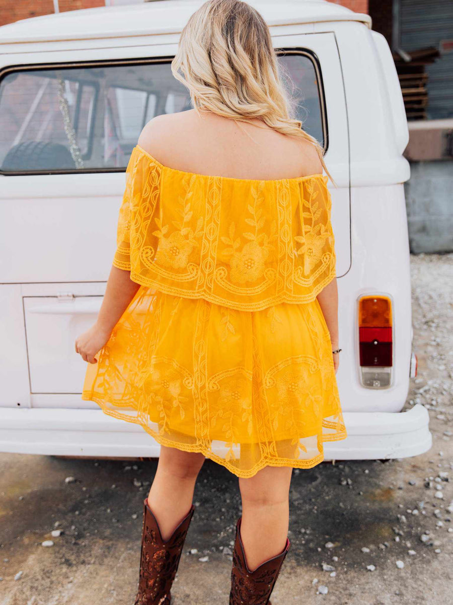 The Getaway Dress - Mustard-Dresses-Southern Fried Chics