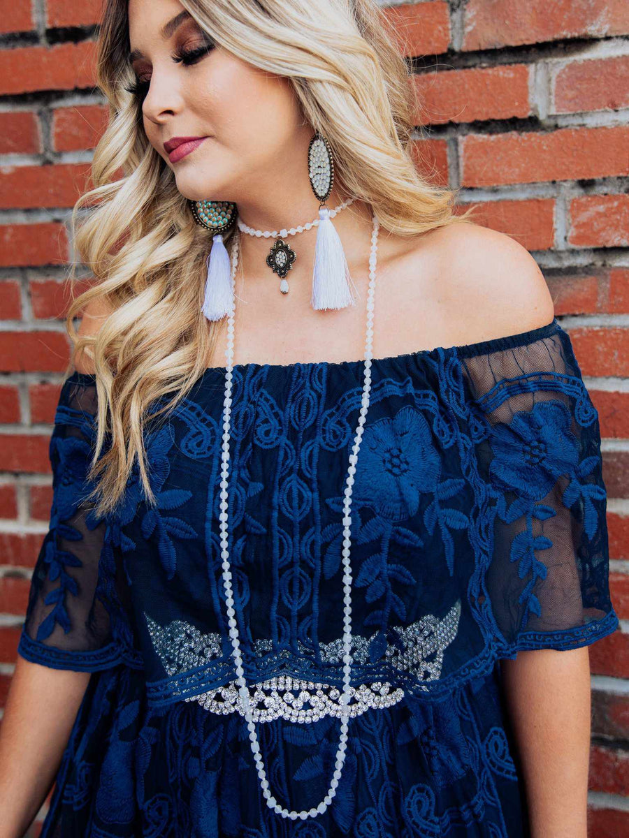 The Getaway Dress - Navy-Dresses-Southern Fried Chics