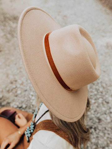 Nashville Wide Brim Hat - Tan