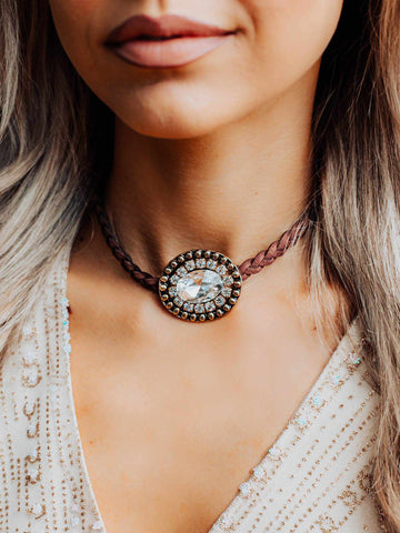 The One Rhinestone Choker-Necklaces-Southern Fried Chics