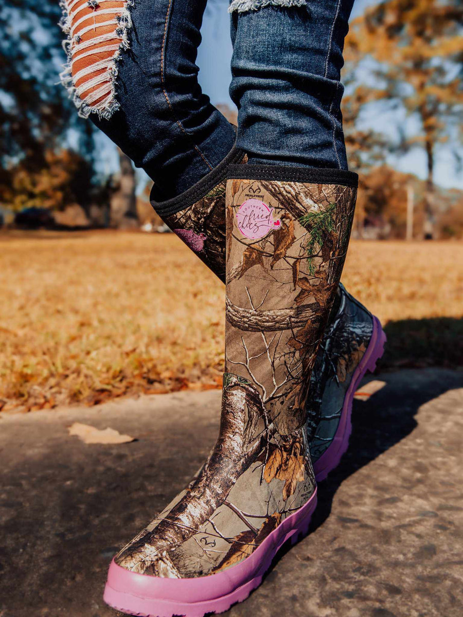 Pretty in Camo Boots - Pink-Boots-Southern Fried Chics
