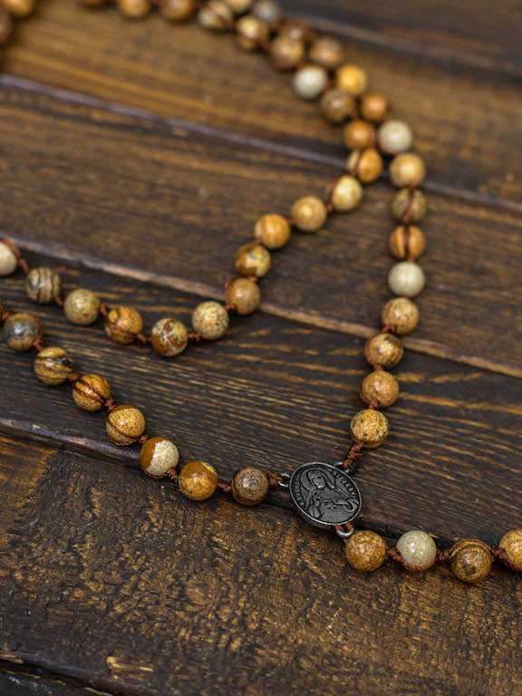 Southern Cross Stone Necklace - Natural With Stone-Necklaces-Southern Fried Chics