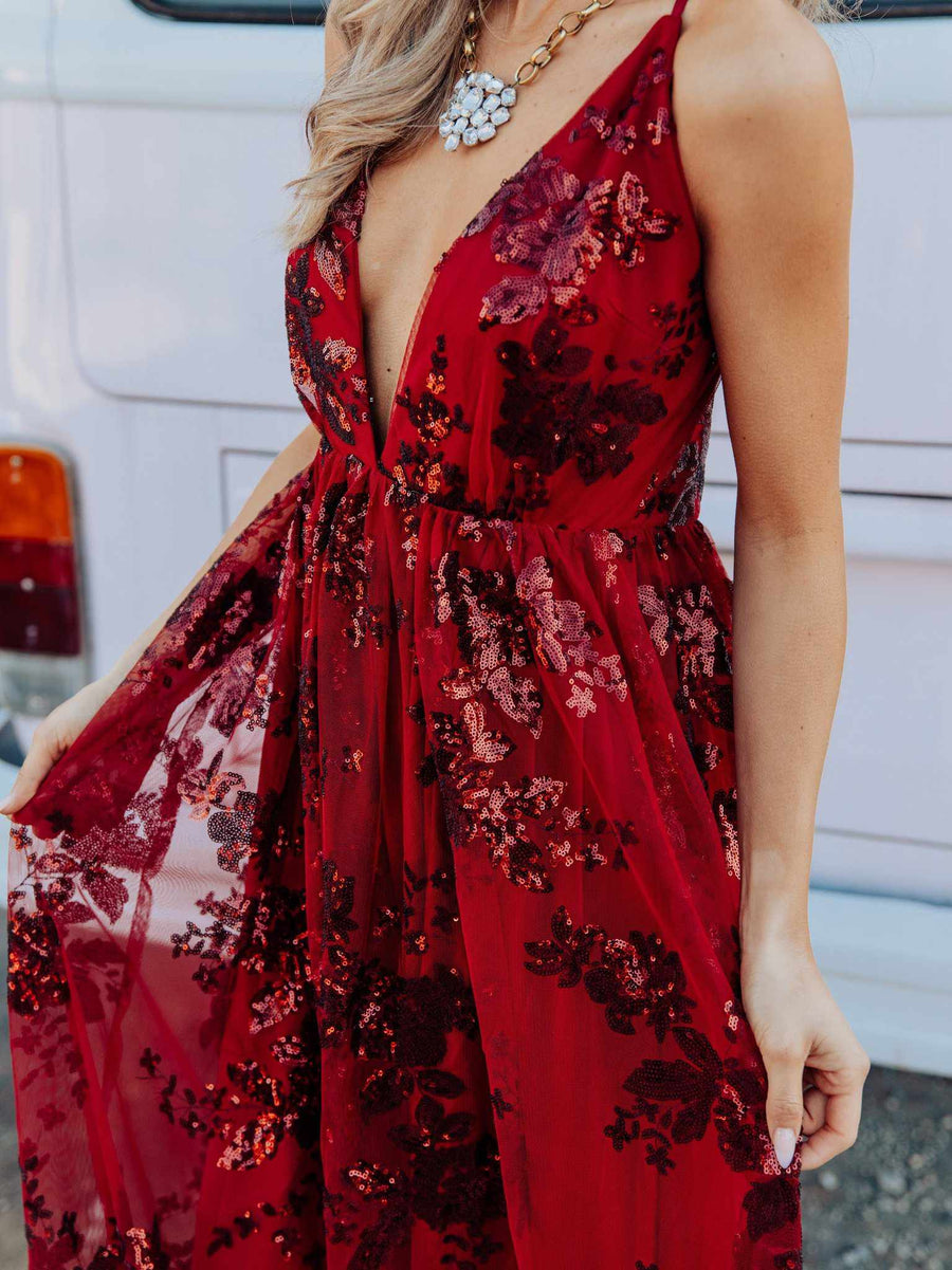 The Philomena Dress - Burgundy