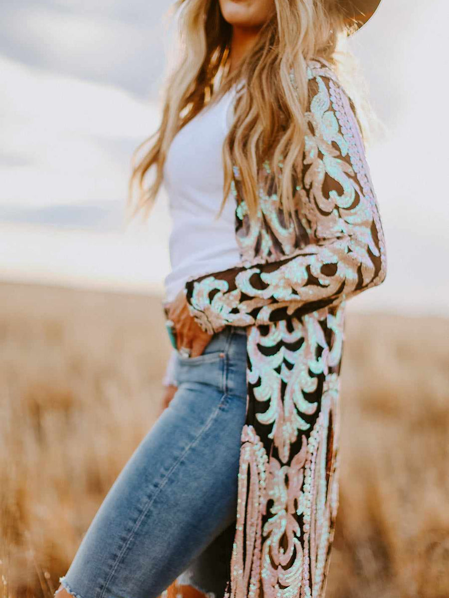 The Royal Sequin Duster - Bubblegum-Southern Fried Chics