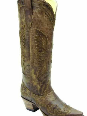 Tall Brown Eagle Boot By Corral