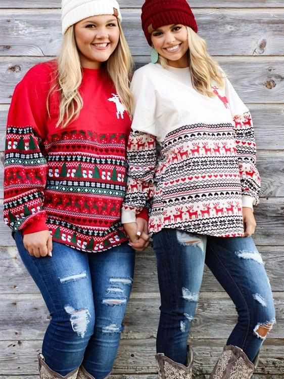 Ugly Christmas Sweater Spirit Jersey - (RUNS TRUE)