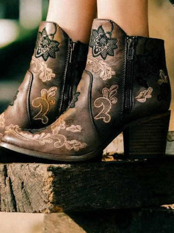 Three Times Floral Bootie by Corral