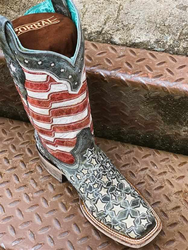 Stars & Stripes GLOW IN THE DARK Boots by Corral