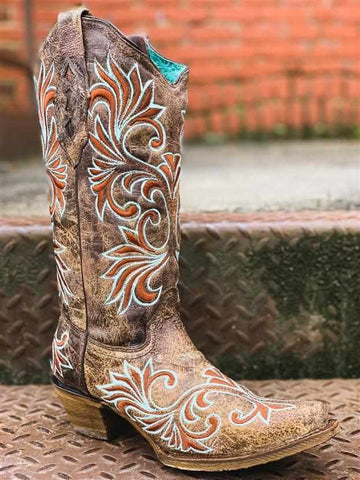 BROWN GLOW IN THE DARK BOOT by CORRAL