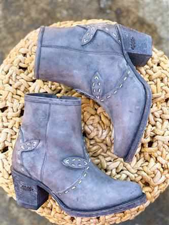 Life's Too Short Bootie - Grey-Southern Fried Chics