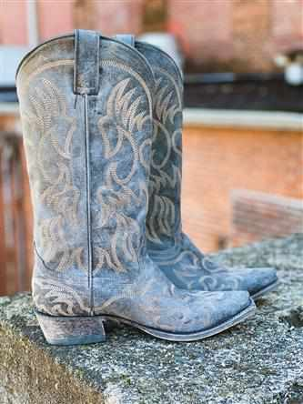 Pure Prairie Western Boot - Black-Southern Fried Chics