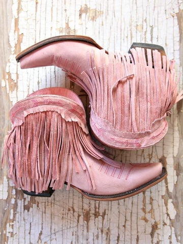 Spitfire Fringe Booties Rose Pink Junk Gypsy By Lane