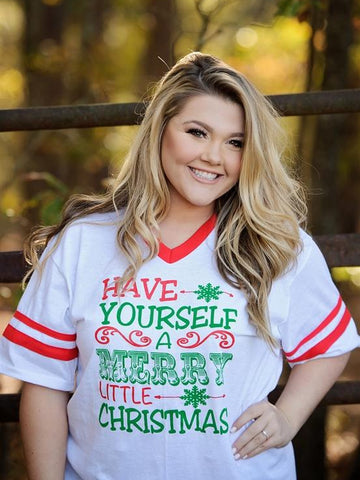 Have Yourself A Merry Christmas Tee - White