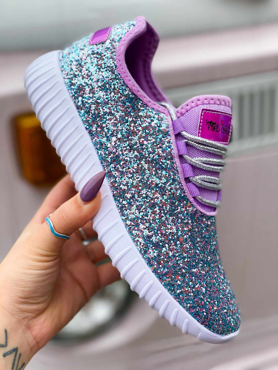 Glitter Bomb Sneakers - Seashell-Southern Fried Chics