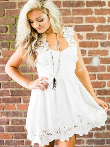 Going To The Chapel Dress - White-Southern Fried Chics