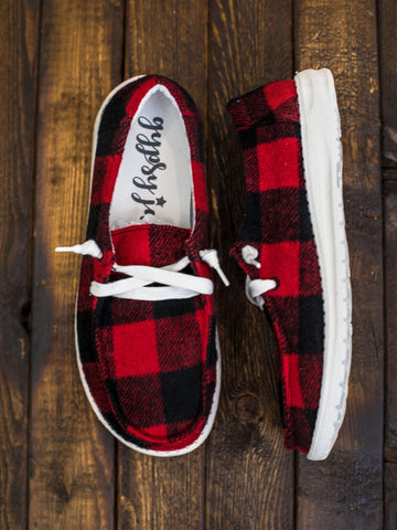 Buffalo Plaid Heather Slip On Loafer