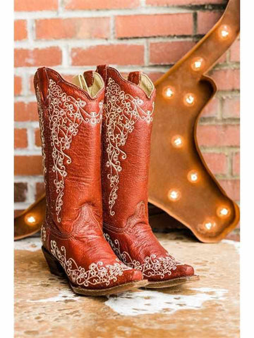 Red Velvet Wedding Boot by Corral