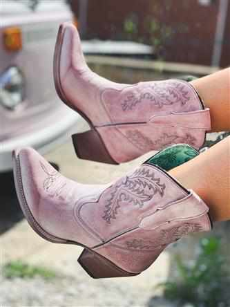 Rose Embroidery Ankle Boot by Corral
