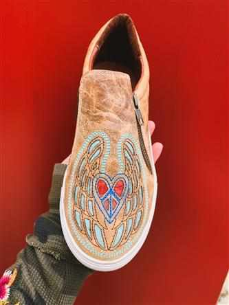 Peace on Earth Sneakers by Corral-Southern Fried Chics