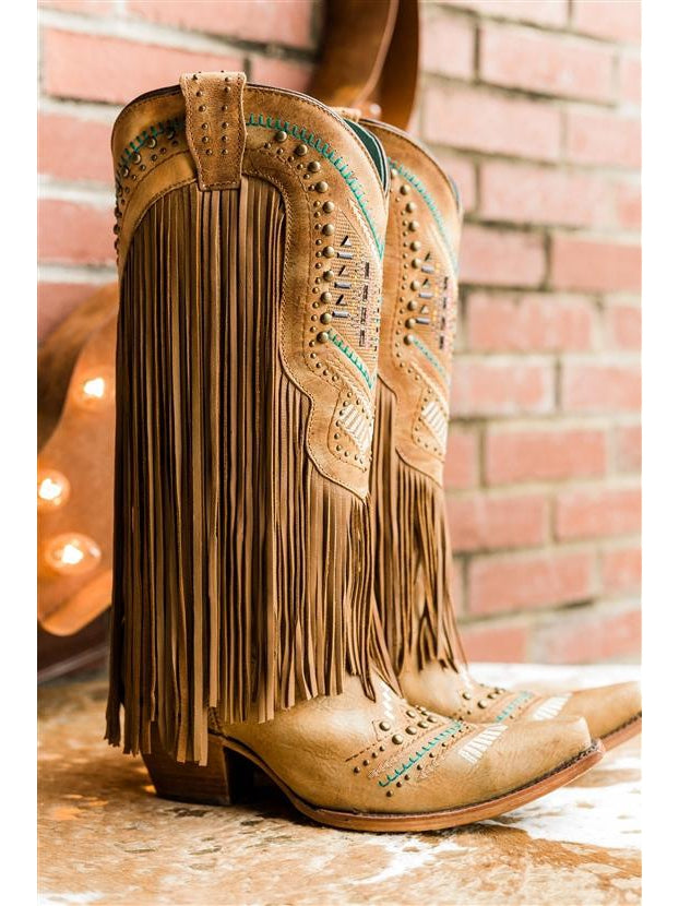 Corral Honey Crystal Fringe Boot by Corral