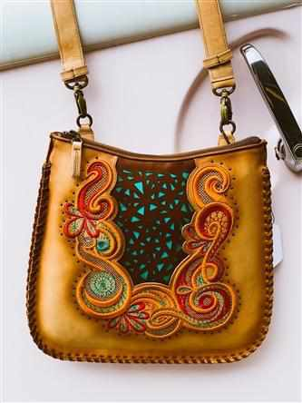 Woven Honey Cross-Body by Corral