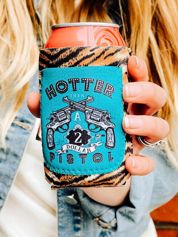 Hotter Than A $2 Pistol Koozie-Koozie-Southern Fried Chics