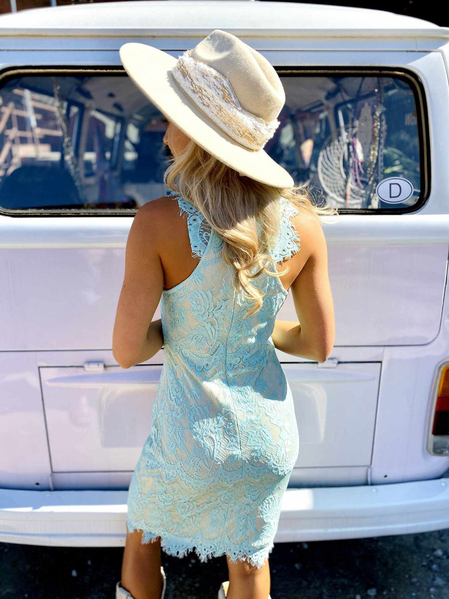 May Flowers Lace Dress - Mint-Southern Fried Chics