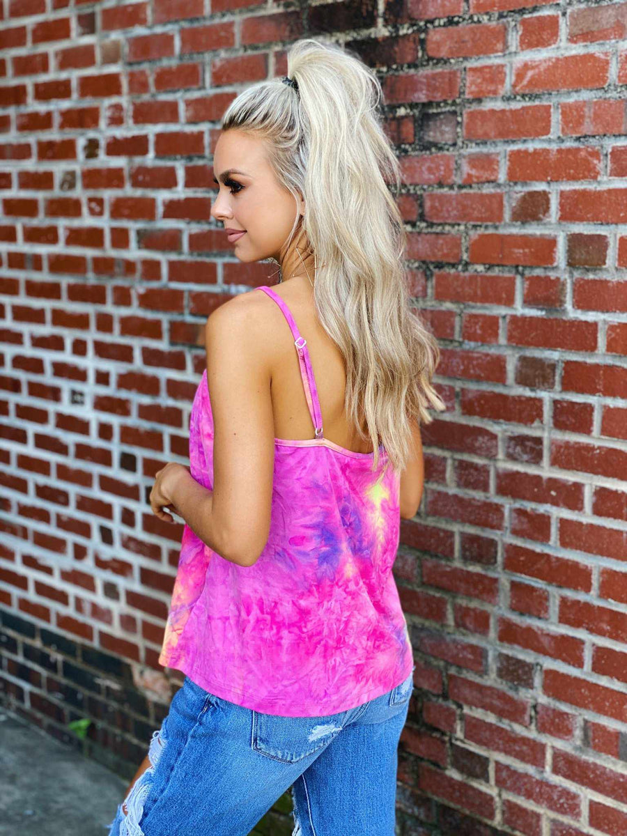 Bright Tie Dye Tank-Southern Fried Chics