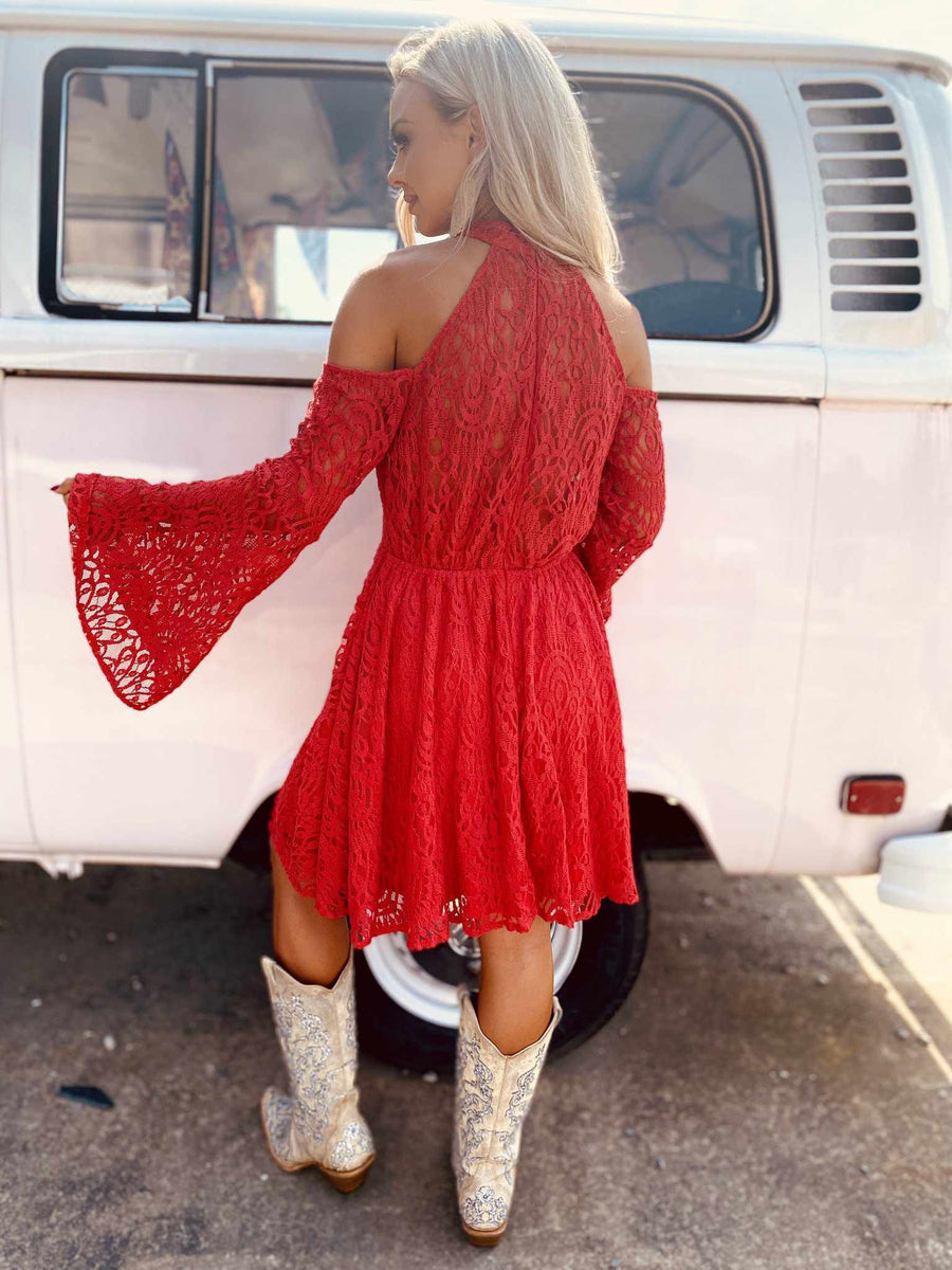 Off The Market Dress - Red-Southern Fried Chics