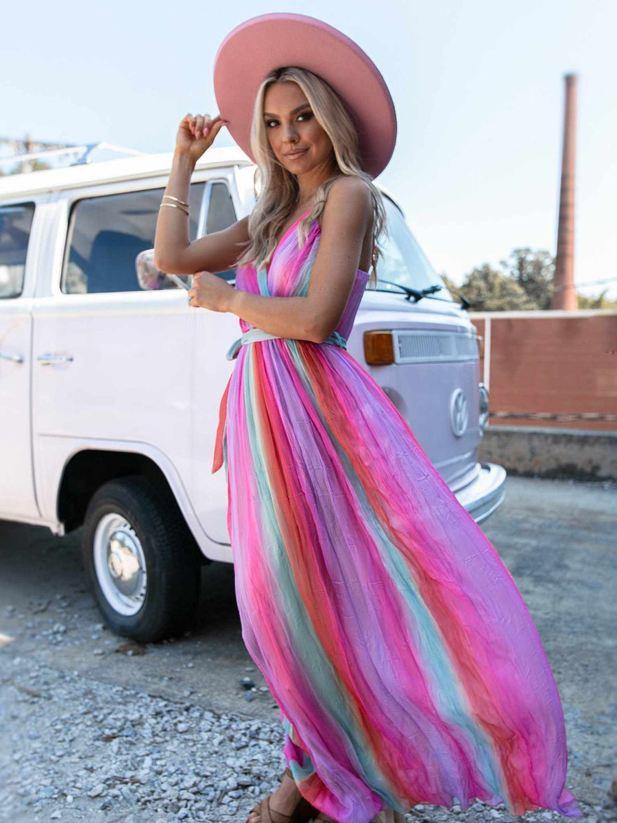 Livin' The Dream Dress - Rainbow-Dresses-Southern Fried Chics