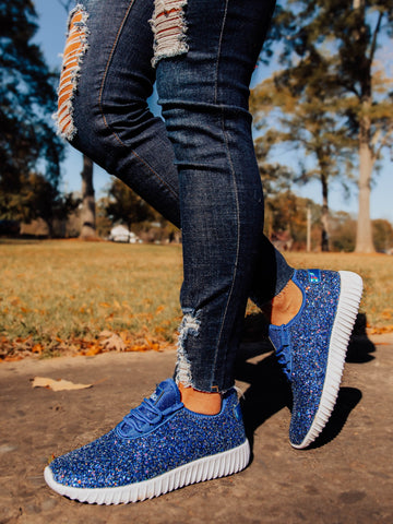 Glitter Bomb Sneakers - Royal Blue