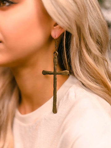 Southern Cross Earrings - Antique Bronze